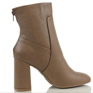 Noten Taupe Closed Toe High Top Ankle Boot